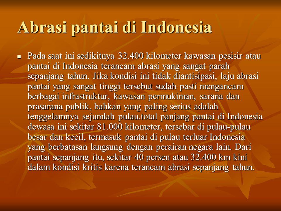 Abrasi pantai di Indonesia