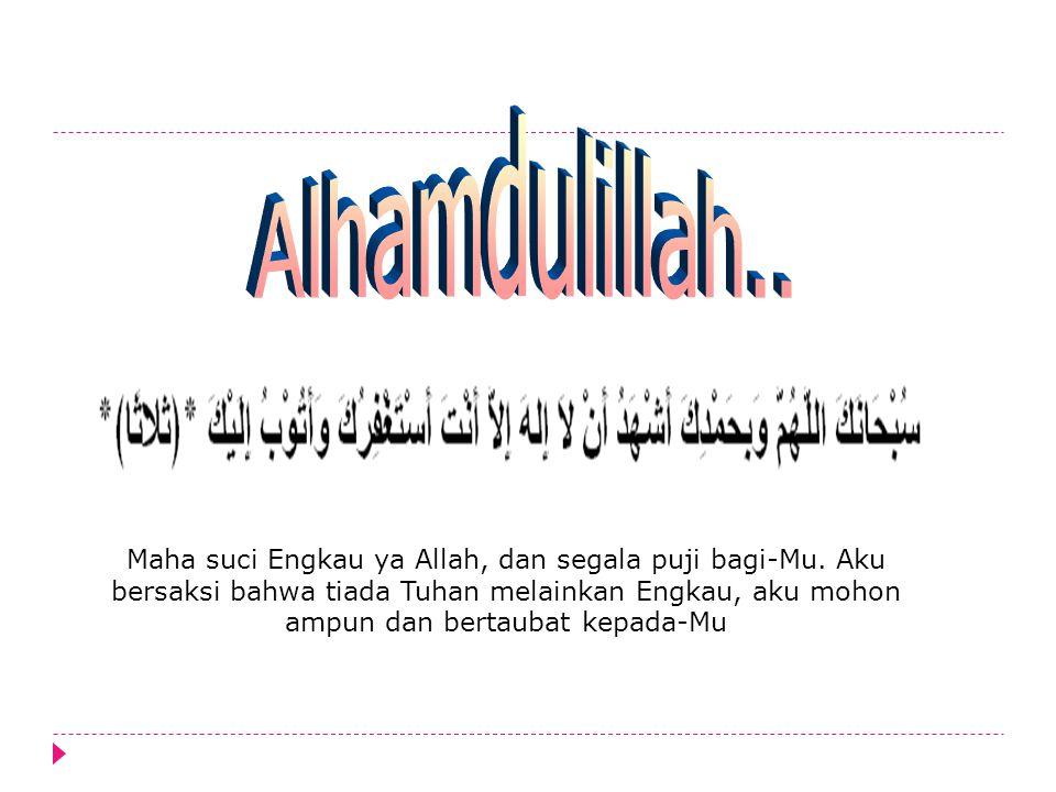 Alhamdulillah..