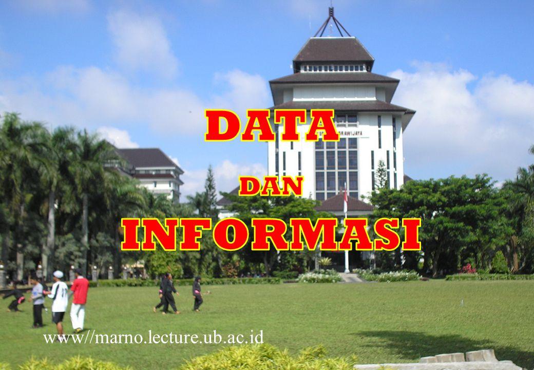 DATA DAN INFORMASI www//marno.lecture.ub.ac.id