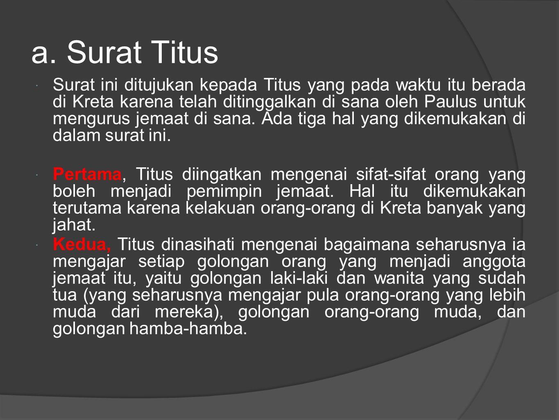 a. Surat Titus