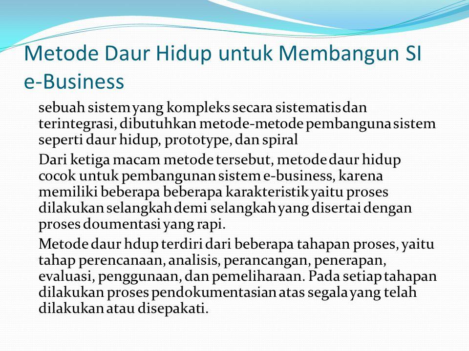 Metode Daur Hidup untuk Membangun SI e-Business