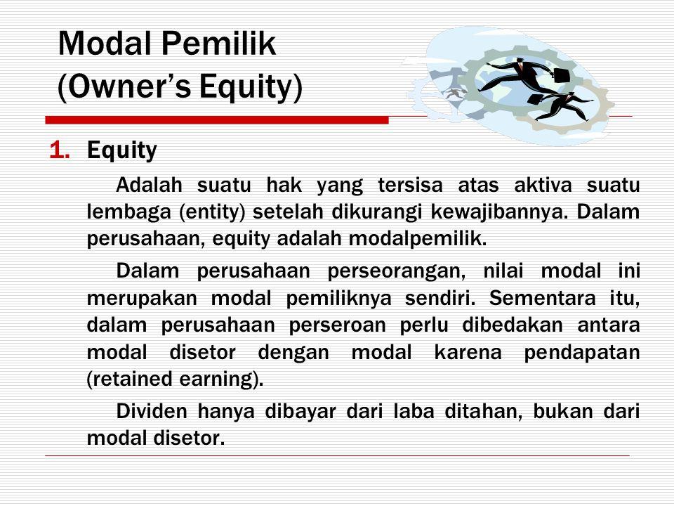 Modal Pemilik (Owner's Equity)