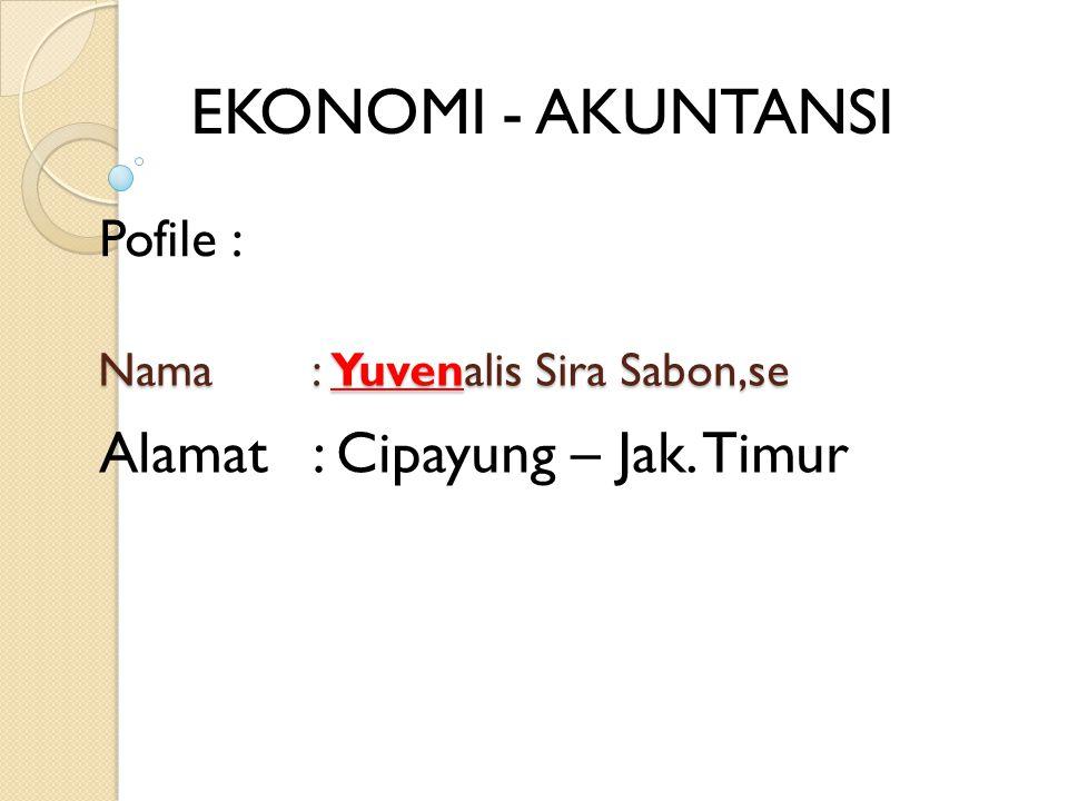 Nama : Yuvenalis Sira Sabon,se