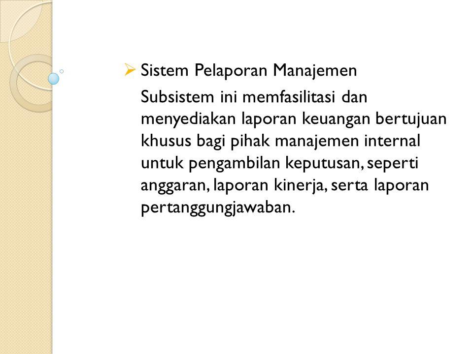 Sistem Pelaporan Manajemen