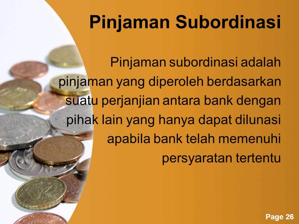Pinjaman Subordinasi