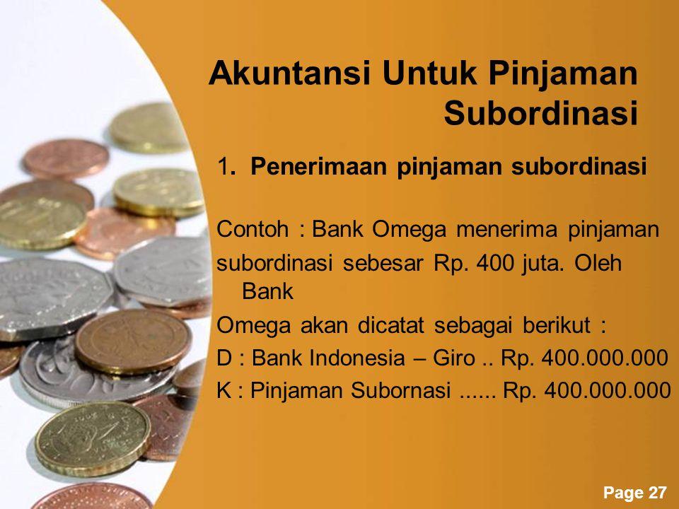 Akuntansi Untuk Pinjaman Subordinasi