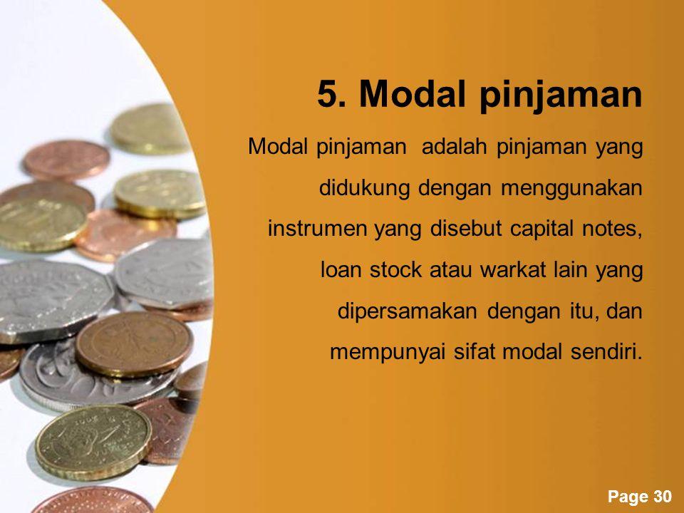 5. Modal pinjaman