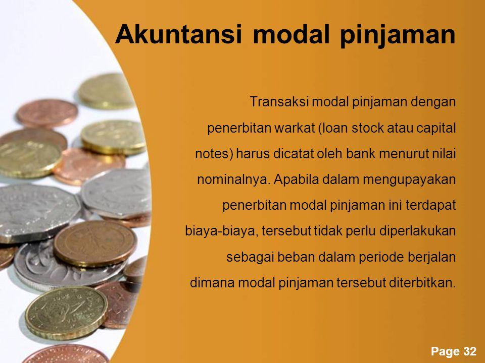 Akuntansi modal pinjaman
