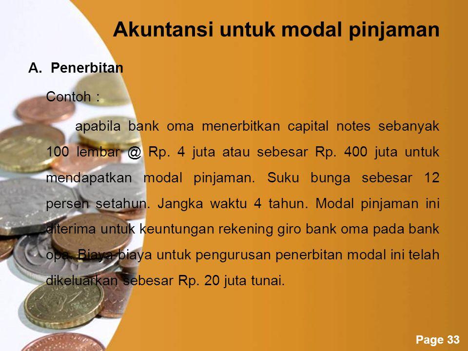 Akuntansi untuk modal pinjaman