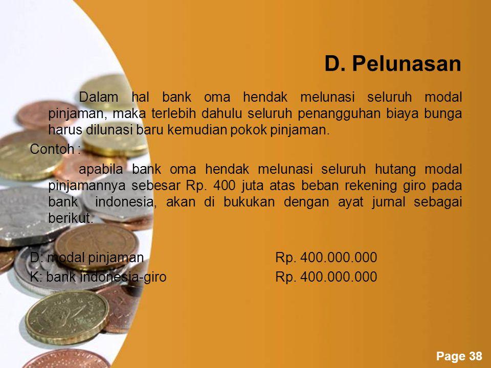 D. Pelunasan