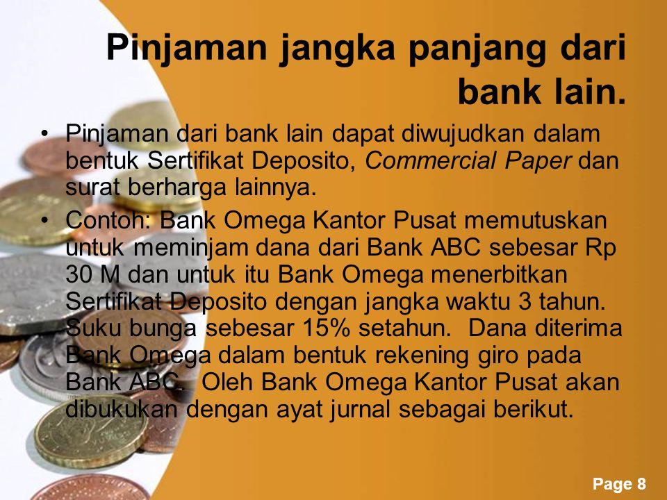 Pinjaman jangka panjang dari bank lain.