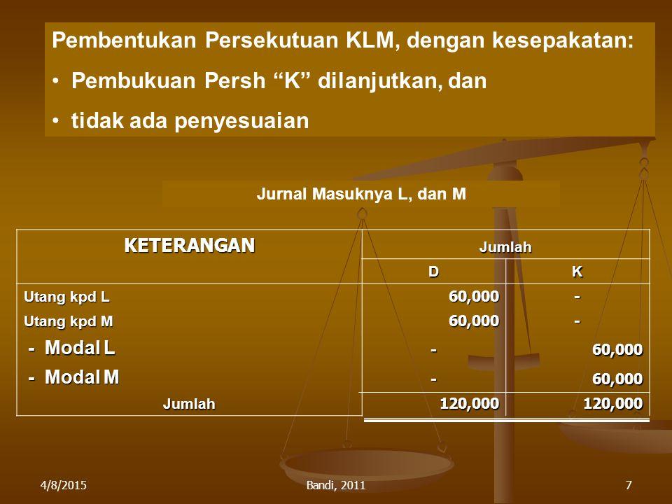 Pembentukan Persekutuan KLM, dengan kesepakatan: