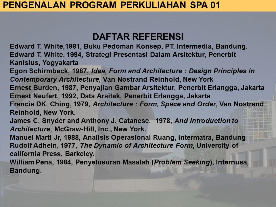 DAFTAR REFERENSI Edward T. White,1981, Buku Pedoman Konsep, PT. Intermedia, Bandung.