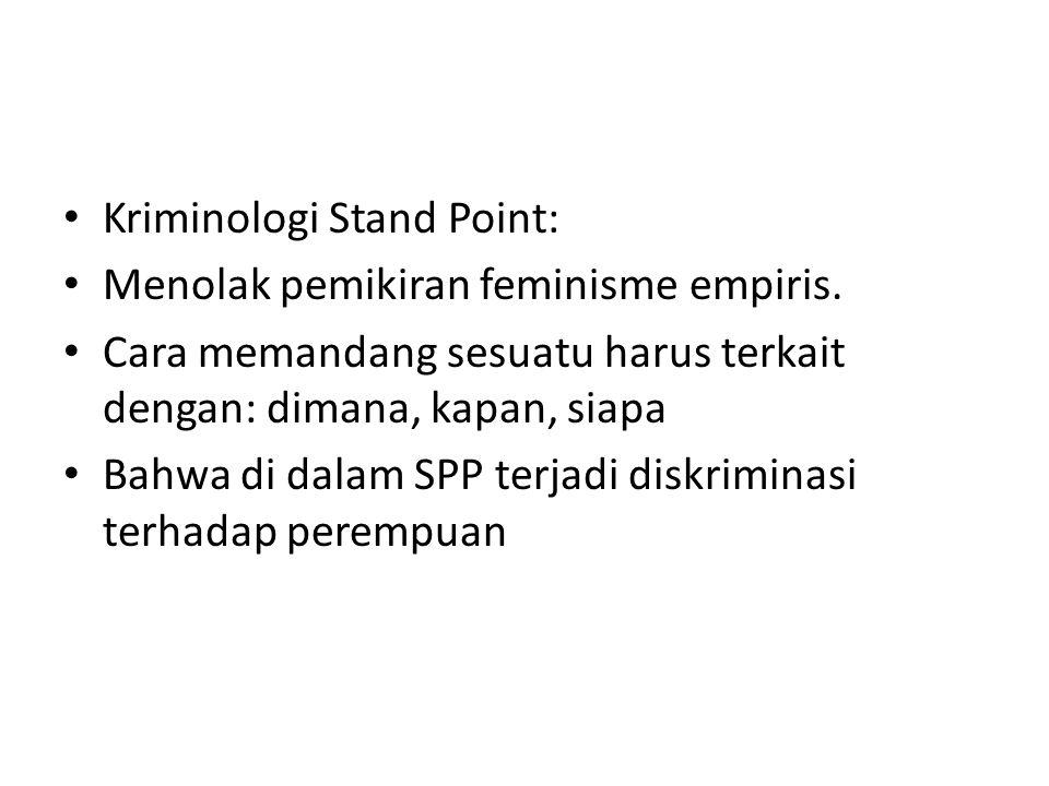 Kriminologi Stand Point: