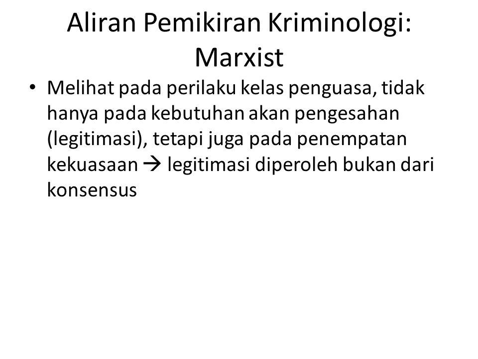 Aliran Pemikiran Kriminologi: Marxist