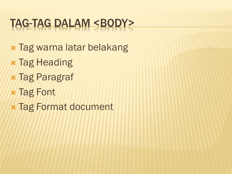 Tag-tag dalam <body>