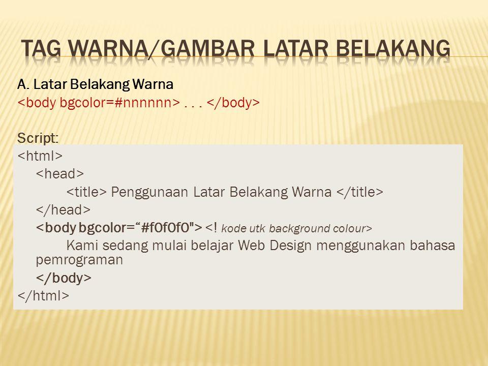 Tag warNa/gambar latar belakang