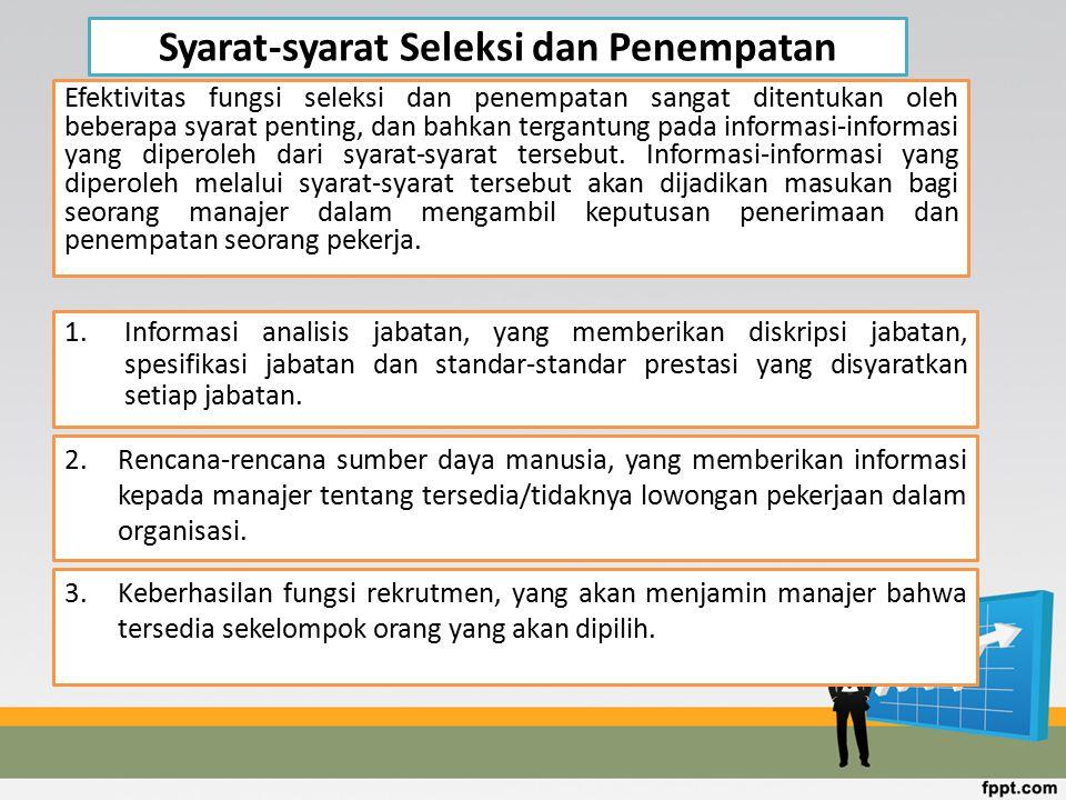 Syarat-syarat Seleksi dan Penempatan