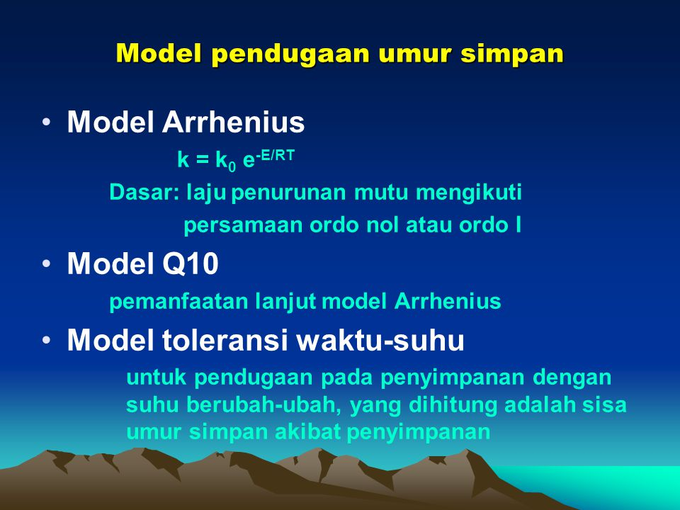 Model pendugaan umur simpan