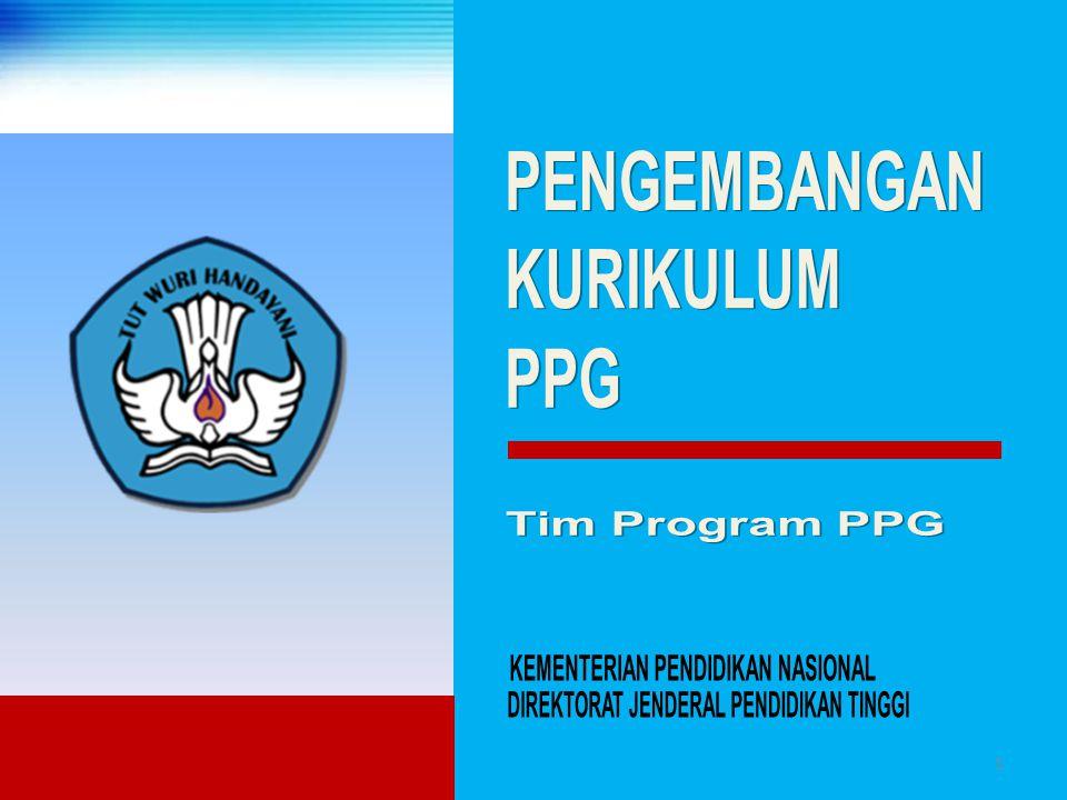 PENGEMBANGAN KURIKULUM. PPG. Tim Program PPG. KEMENTERIAN PENDIDIKAN NASIONAL.