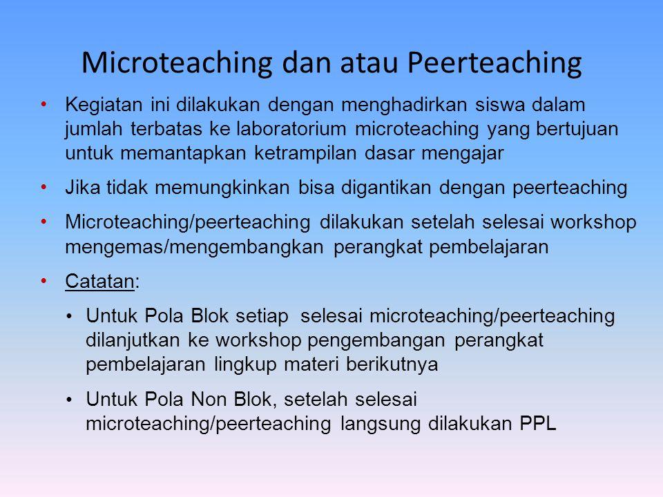 Microteaching dan atau Peerteaching