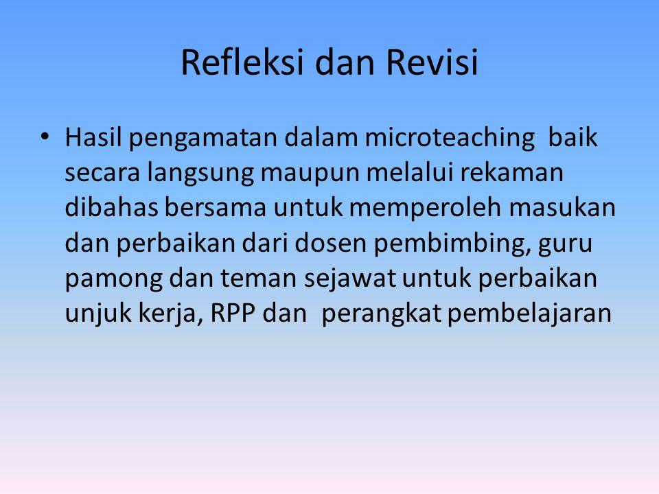 Refleksi dan Revisi