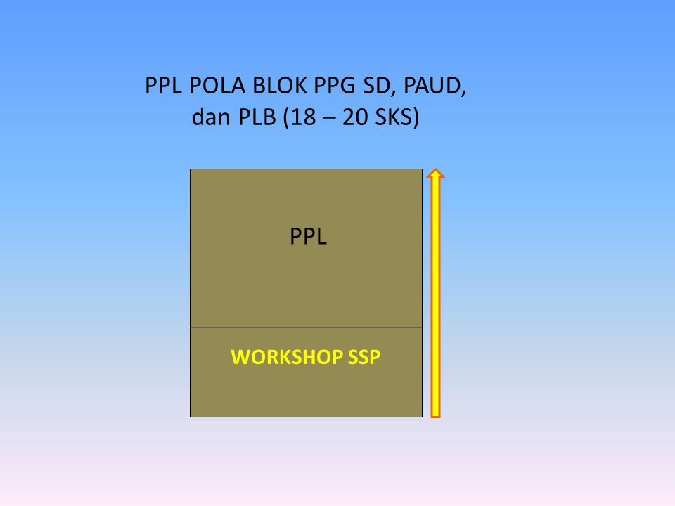 PPL POLA BLOK PPG SD, PAUD, dan PLB (18 – 20 SKS)