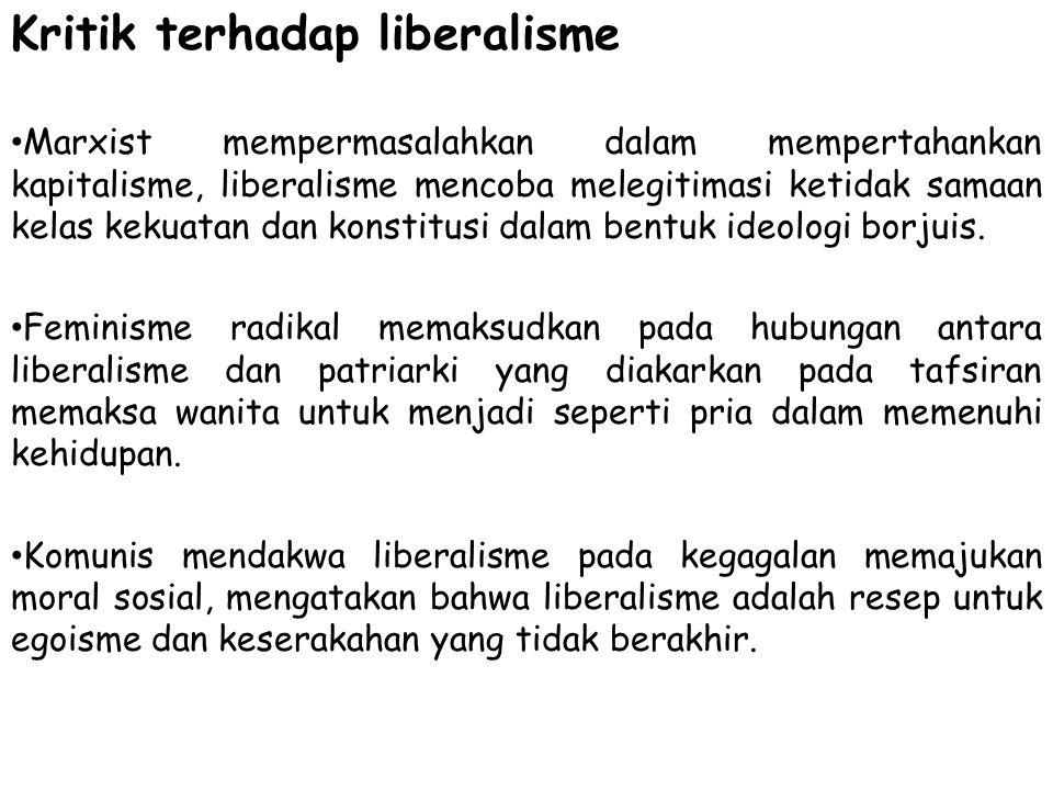 Kritik terhadap liberalisme