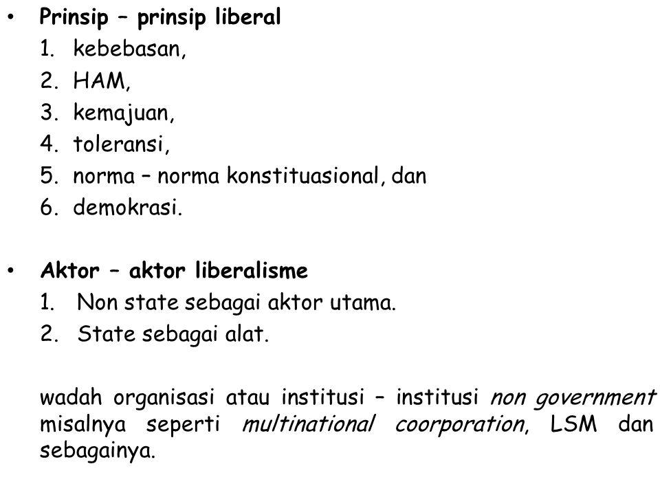 Prinsip – prinsip liberal