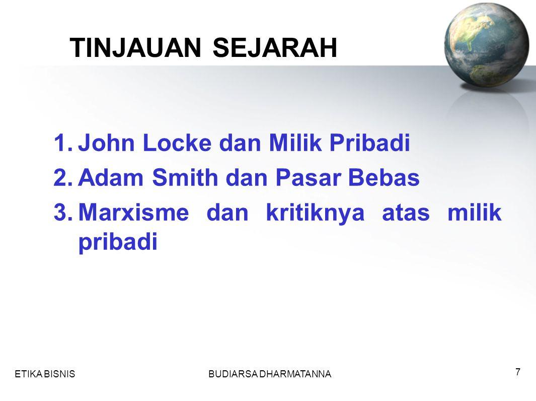 TINJAUAN SEJARAH John Locke dan Milik Pribadi