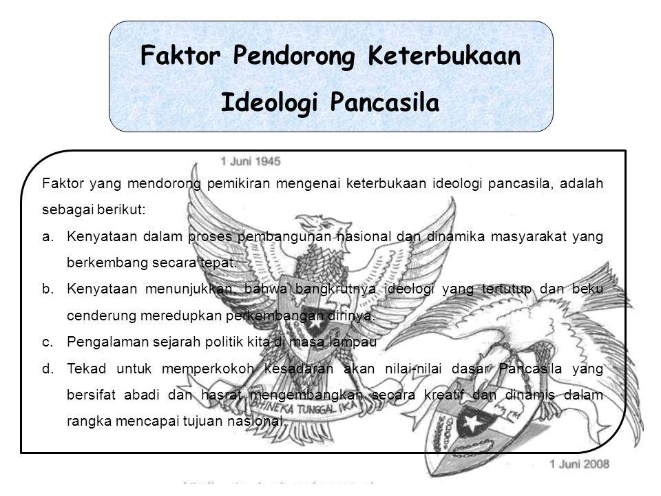 Faktor Pendorong Keterbukaan Ideologi Pancasila