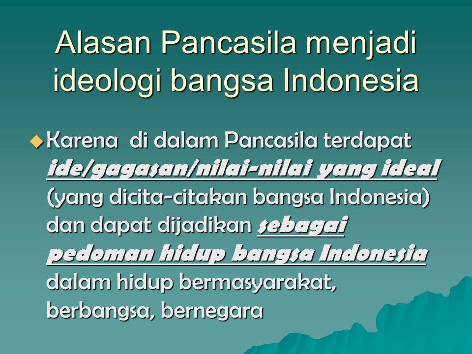 Alasan Pancasila menjadi ideologi bangsa Indonesia