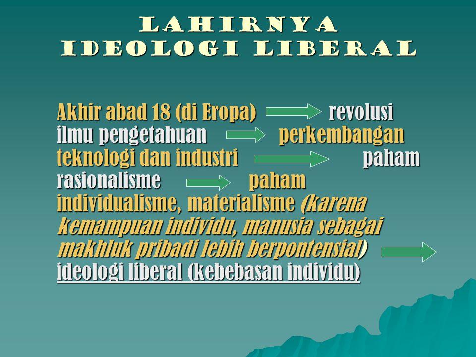 LAHIRNYA IDEOLOGI LIBERAL