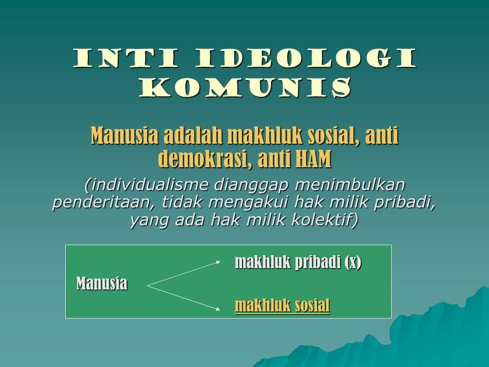 Manusia adalah makhluk sosial, anti demokrasi, anti HAM