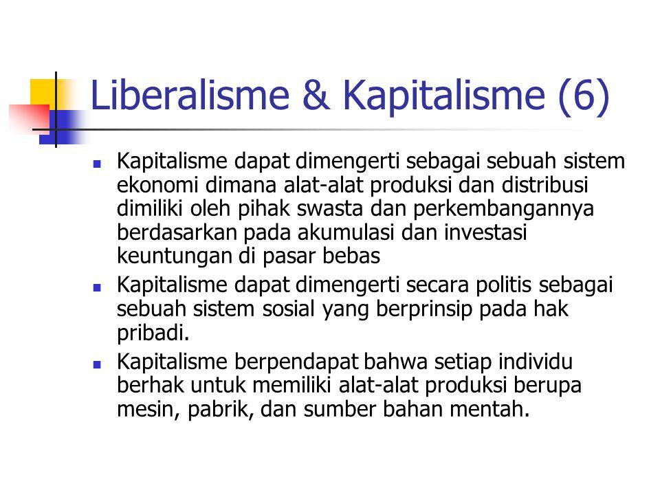Liberalisme & Kapitalisme (6)