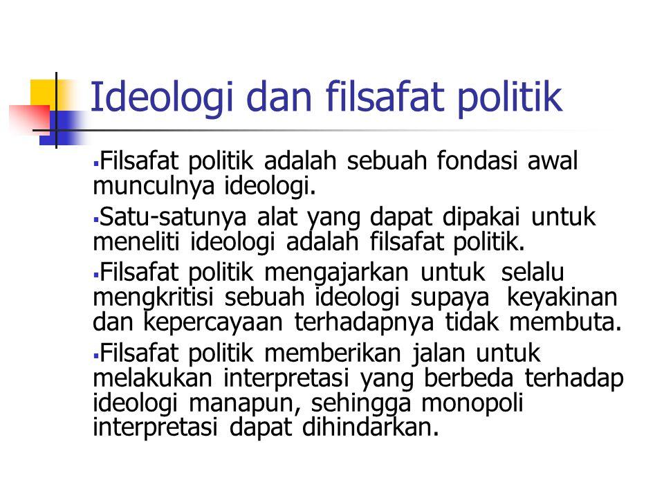 Ideologi dan filsafat politik