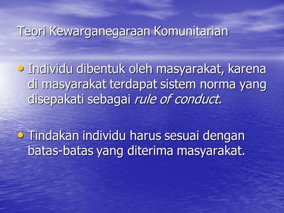 Teori Kewarganegaraan Komunitarian