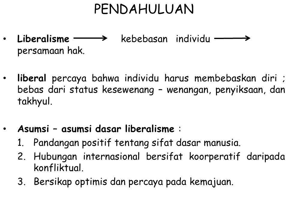 PENDAHULUAN Liberalisme kebebasan individu persamaan hak.
