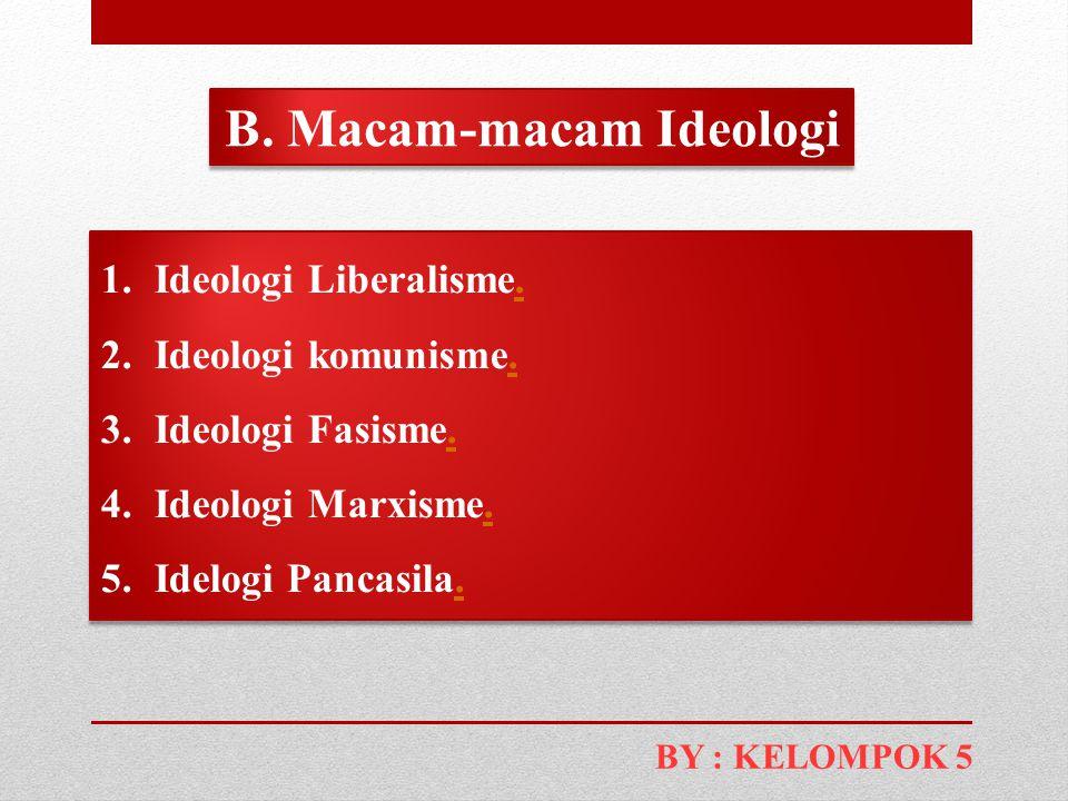 B. Macam-macam Ideologi