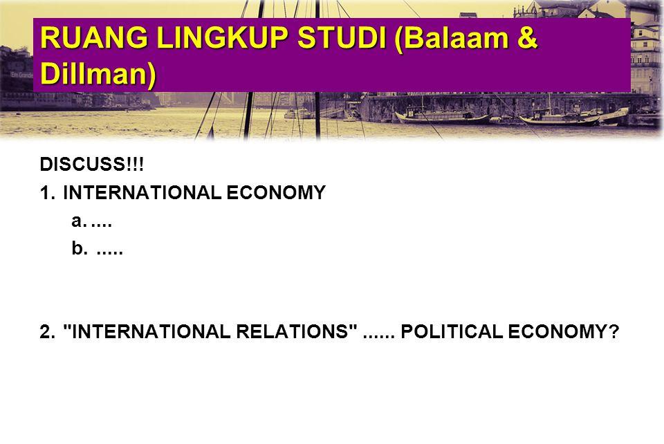 RUANG LINGKUP STUDI (Balaam & Dillman)