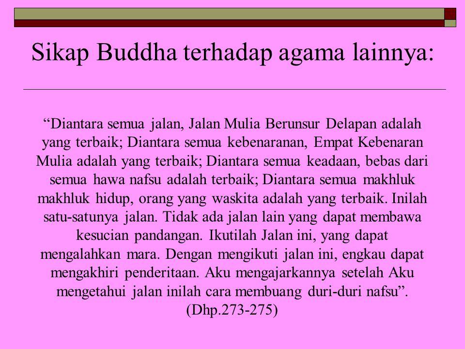 Sikap Buddha terhadap agama lainnya: