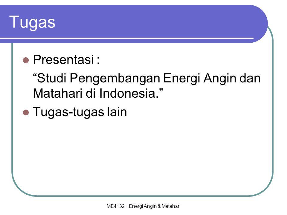 ME4132 - Energi Angin & Matahari