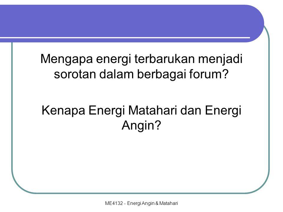 Mengapa energi terbarukan menjadi sorotan dalam berbagai forum