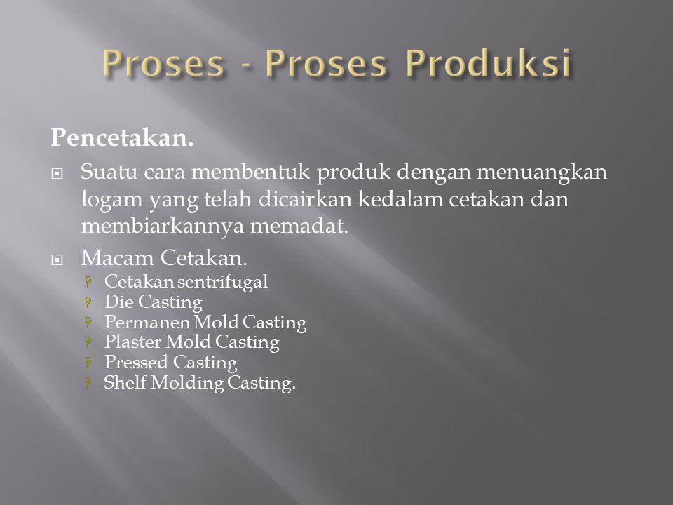 Proses - Proses Produksi