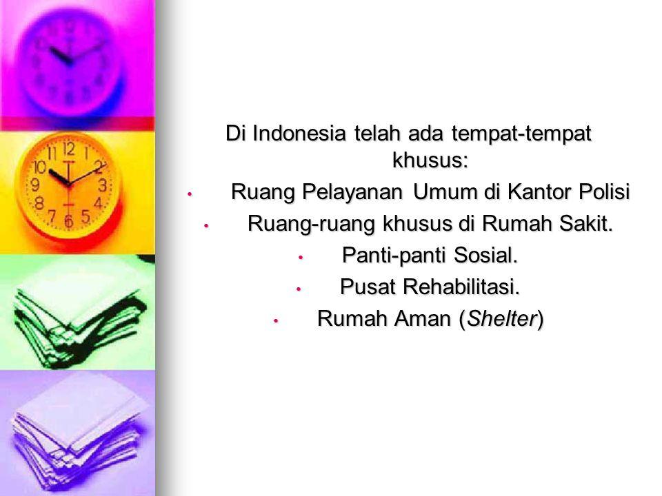 Di Indonesia telah ada tempat-tempat khusus: