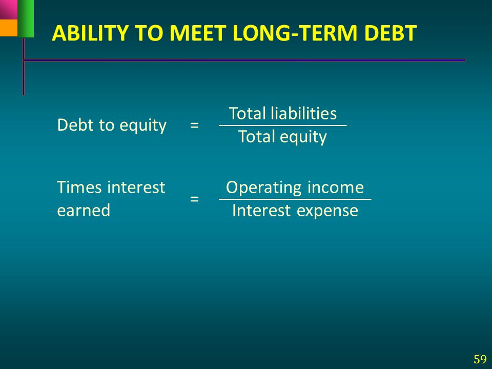ABILITY TO MEET LONG-TERM DEBT