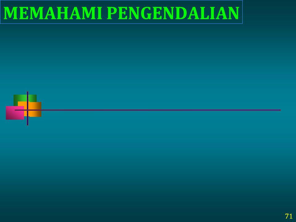 MEMAHAMI PENGENDALIAN