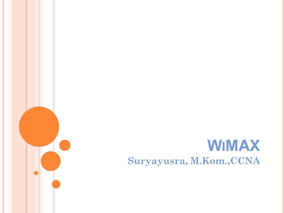 WiMAX Suryayusra, M.Kom.,CCNA