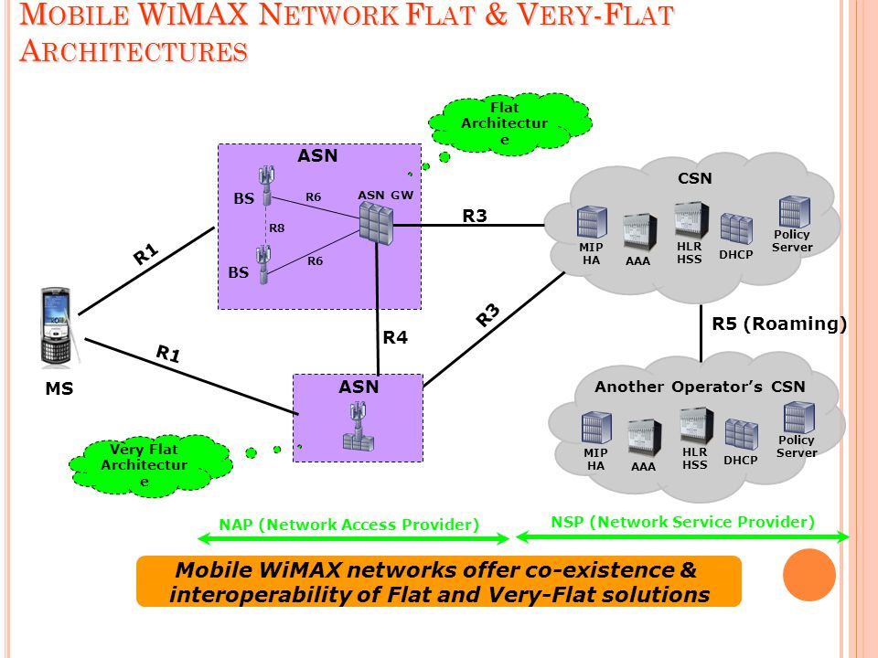 Mobile WiMAX Network Flat & Very-Flat Architectures