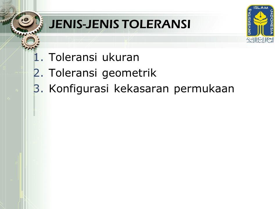 JENIS-JENIS TOLERANSI